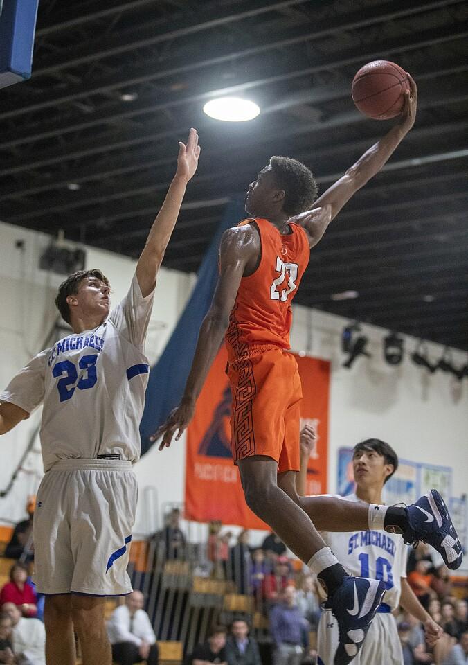 Photo Gallery: Pacifica Christian Orange County vs. St. Michael's Prep in boys' basketball