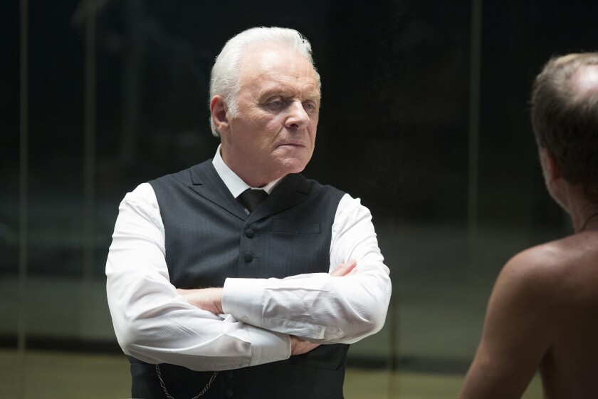 """Anthony Hopkins as Dr. Robert Ford, the creator, in """"Westworld."""""""