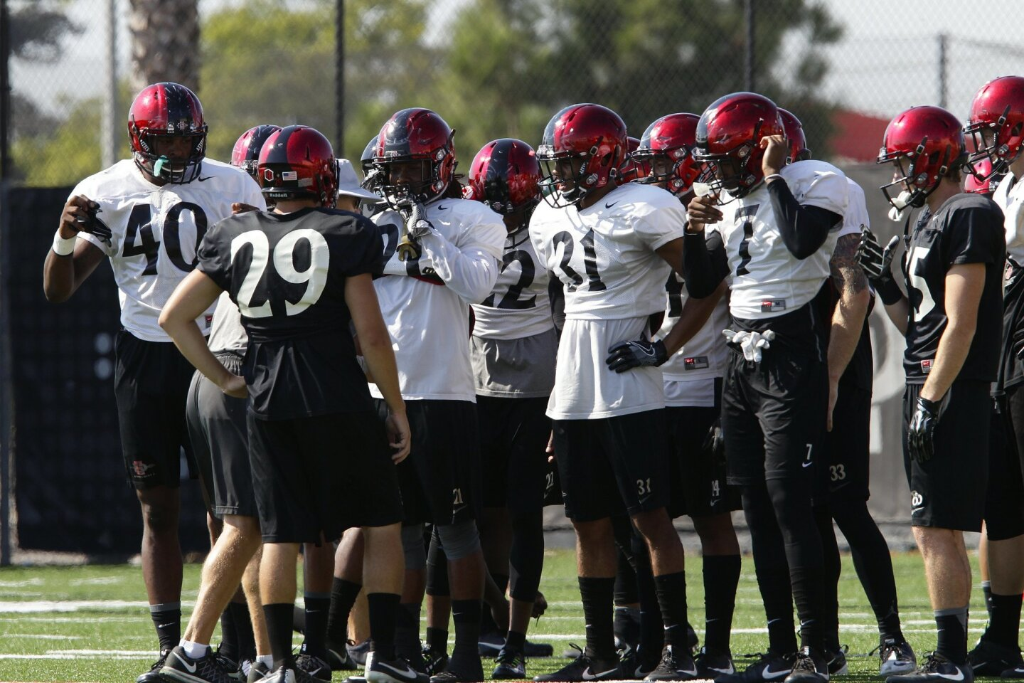 Aztecs Football practice August 30, 2016