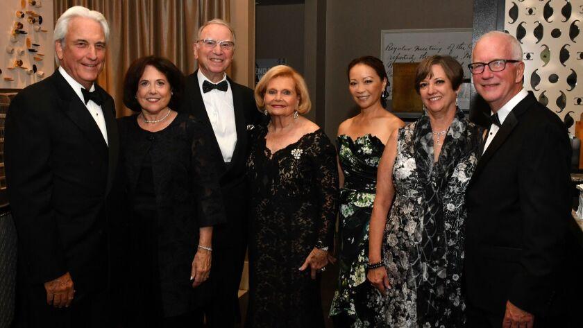 Dr. Warren and Karen Kessler (he's SDS board chair), Irwin and Joan Jacobs, June Shillman (gala ch