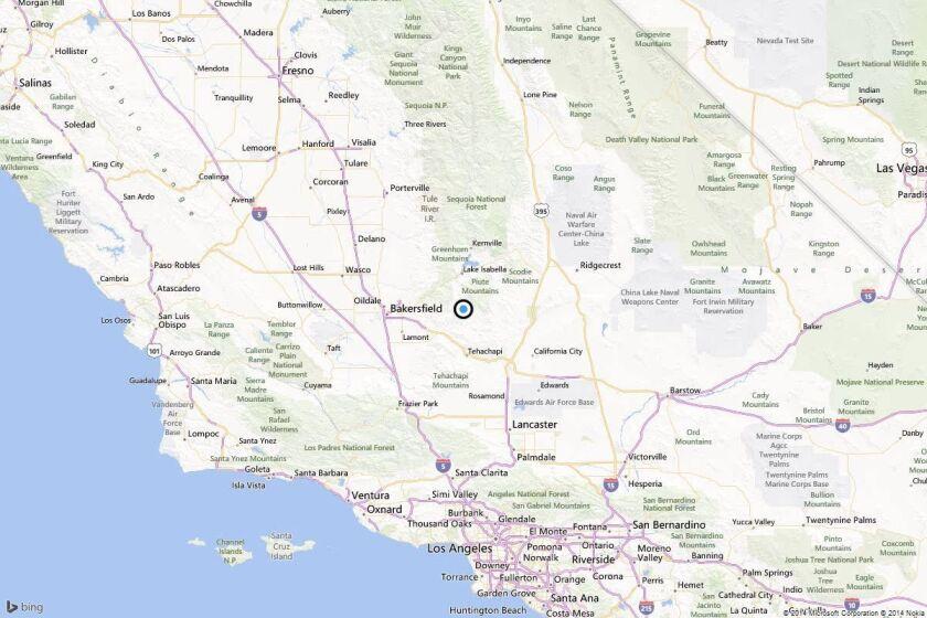 Earthquake: 3.8 quake strikes near Bodfish, Calif.