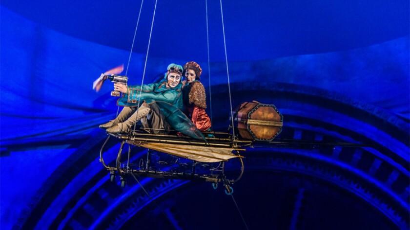 "A scene from Cirque du Soleil's latest show, ""Kurios – Cabinet of Curiosities."""