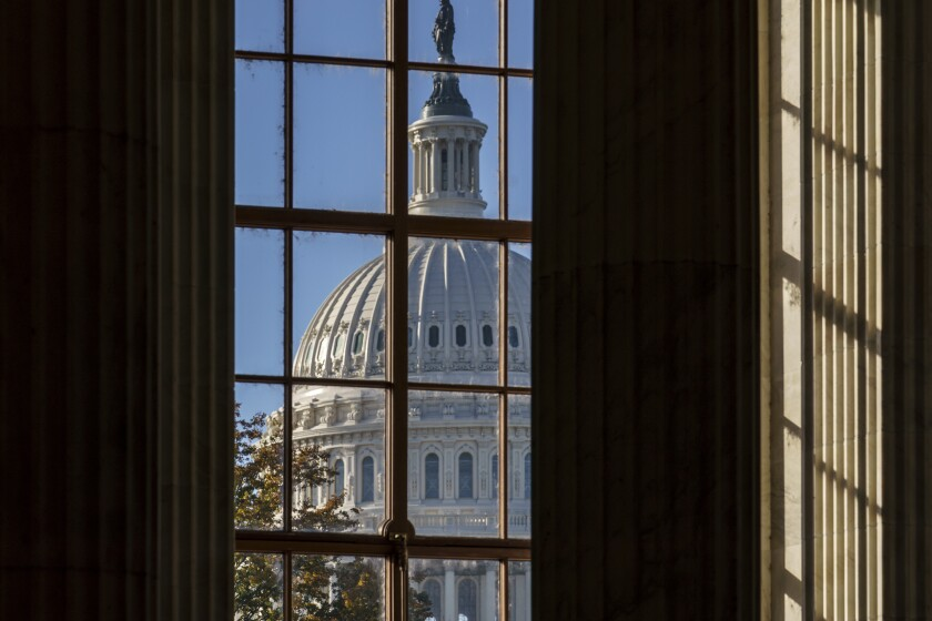 En esta imagen del 10 de noviembre de 2020 se ve el Capitolio, en Washington.