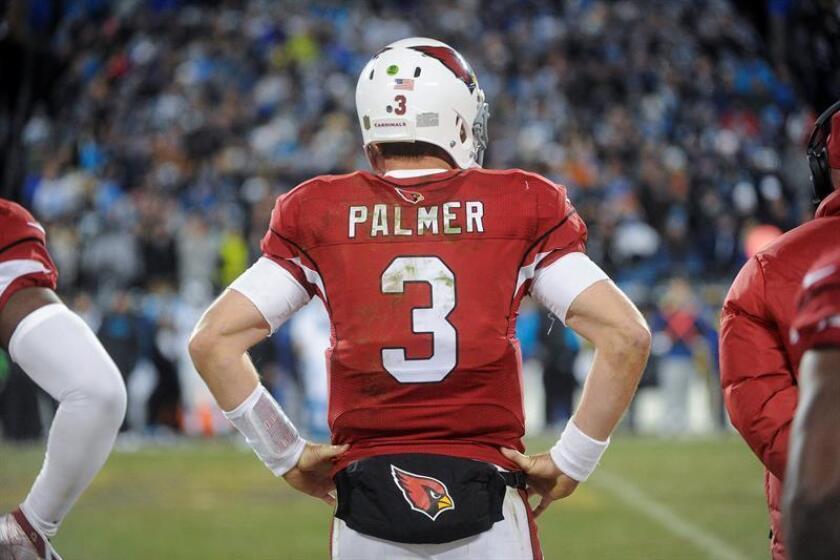 """Palmer se va de la NFL como el duodécimo en yardas; decimocuarto en pases lanzados, undécimo en pase completados y duodécimo en """"touchodowns"""". EFE/Archivo"""