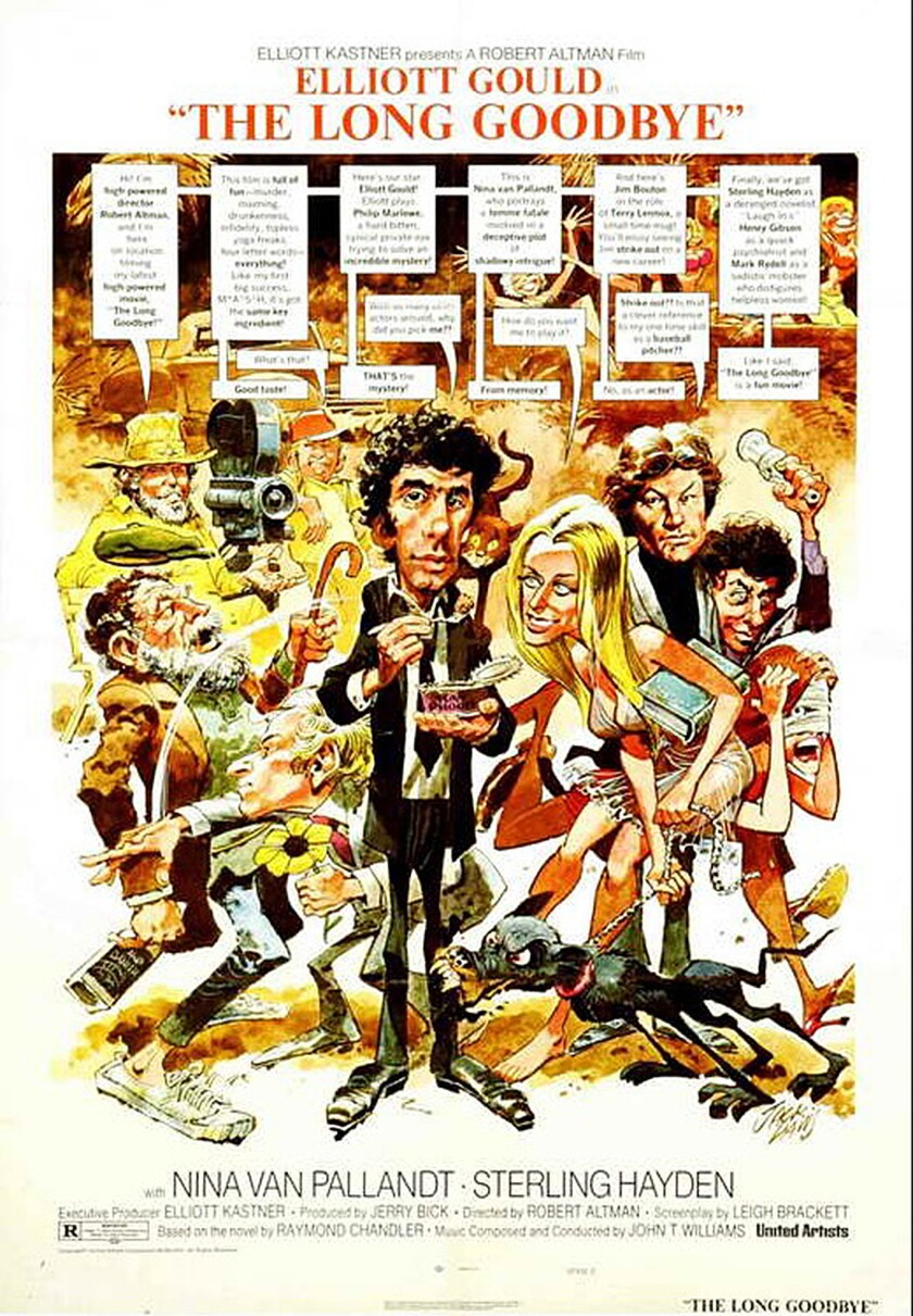 """Jack Davis created the poster for """"The Long Goodbye"""" and other movies."""