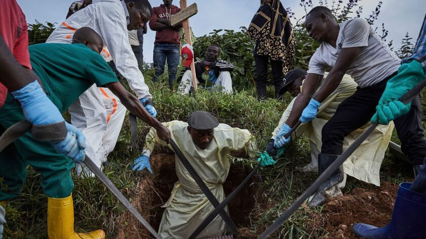 A burial site for Ebola victims in Butembo, Congo