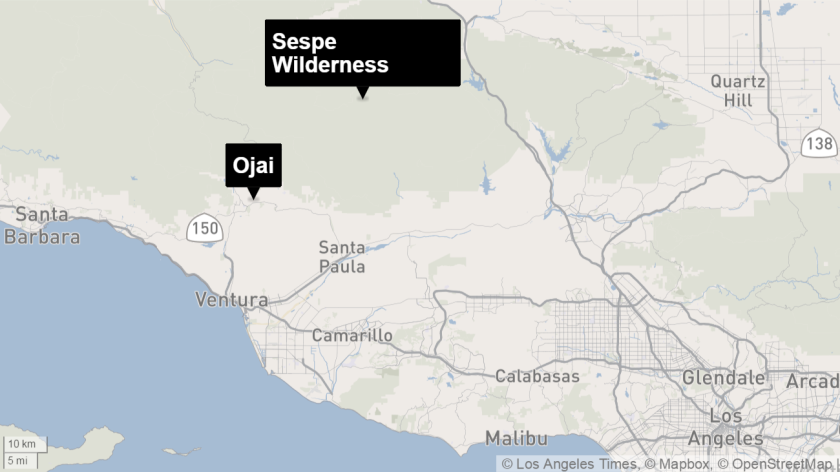 Pine fire continues to burn in wilderness area north of Ojai