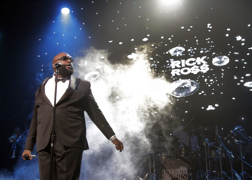 Rick Ross at Club Nokia in Los Angeles on Aug. 14, 2013.