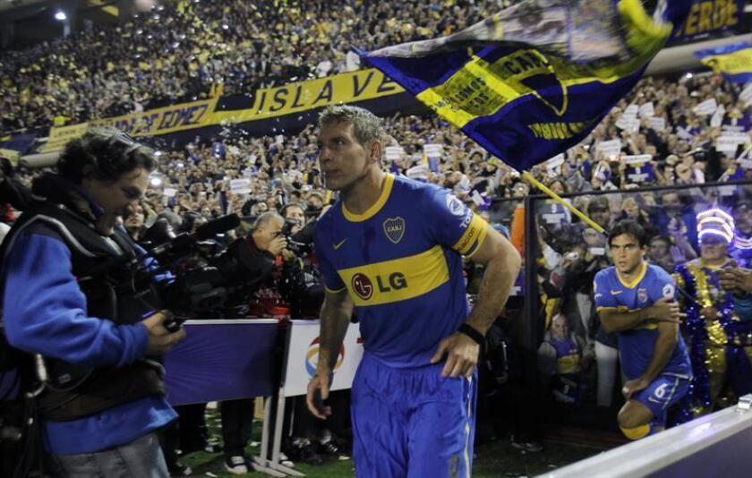 Martín Palermo, excapitán de Boca Juniors y el máximo goleador de su historia. EFE/Archivo