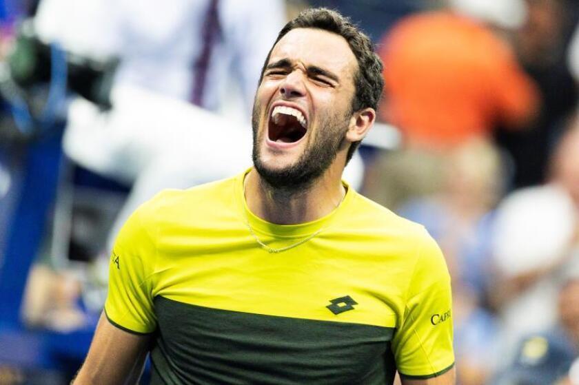 Berrettini gana a Monfils y jugará sus primeras semifinales de un Grand Slam