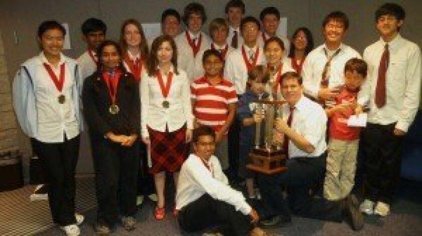 The Canyon Crest Academy junior varsity team