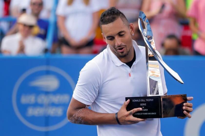 El australiano Kyrgios gana el Citi Open al ruso Medvedev, en una final apretada
