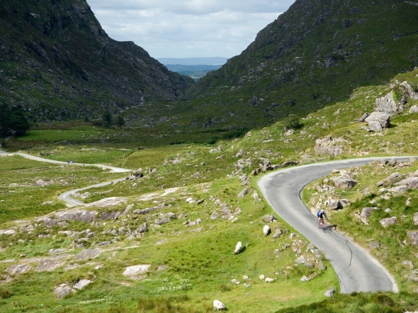 The Gap of Dunloe in Ireland's County Kerry is one of the destinations on the Wilderness Ireland bicycle tour.