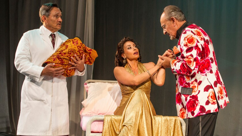 "A scene from the play ""Destiny of Desire,"" inspired by telenovelas."