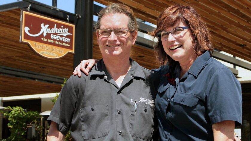 Barbara Gerovac, who co-owns Anaheim Brewery with her husband, Greg, started brewing after a 20-year