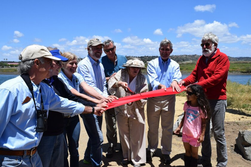 Community leaders celebrated the opening of the River Path Del Mar extension.