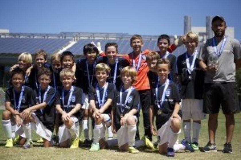 For the second weekend in a row, the BU12 Academy team, coached by Arturo Perez, went undefeated and brought home the championship trophy.