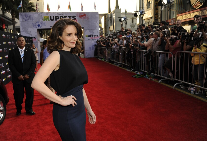 "Tina Fey, a cast member in ""Muppets Most Wanted,"" is also creator/writer on ""30 Rock"" and wrote ""Mean Girls."""