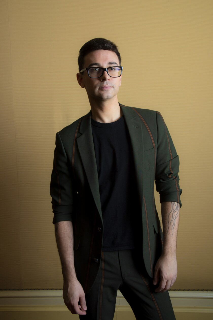PASADENA, CA - JANUARY 29, 2019: Fashion designer Christian Siriano is a sought after designer to t
