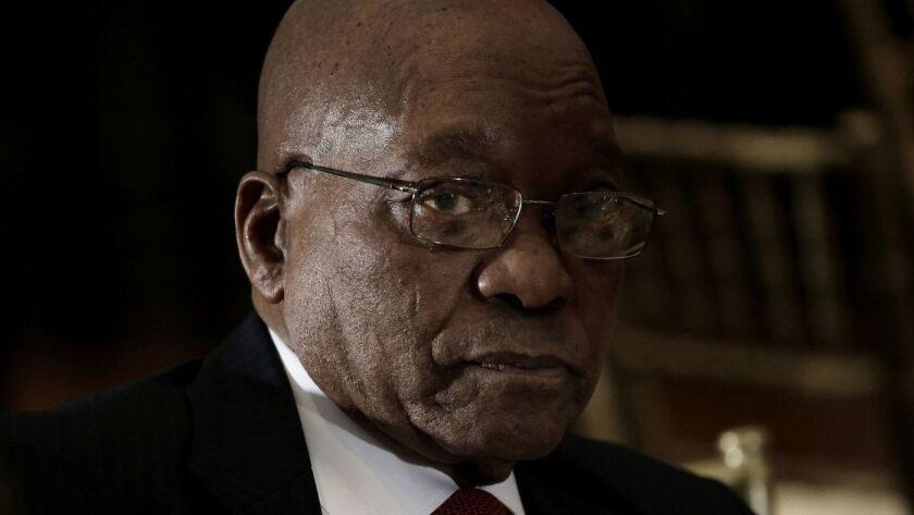 Después de la presión del gobernante partido del Congreso Nacional Africano, el presidente sudafricano Jacob Zuma renunció en febrero pasado (Sipa USA).