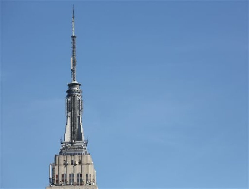 This Tuesday, April 30, 2013 photo shows New York's Empire State Building in midtown Manhattan. A legal challenge to an ambitious plan to let the public buy shares in the famous landmark was cast aside on Tuesday in a ruling by a Manhattan judge. Real estate magnates Peter Malkin and his son Anthon