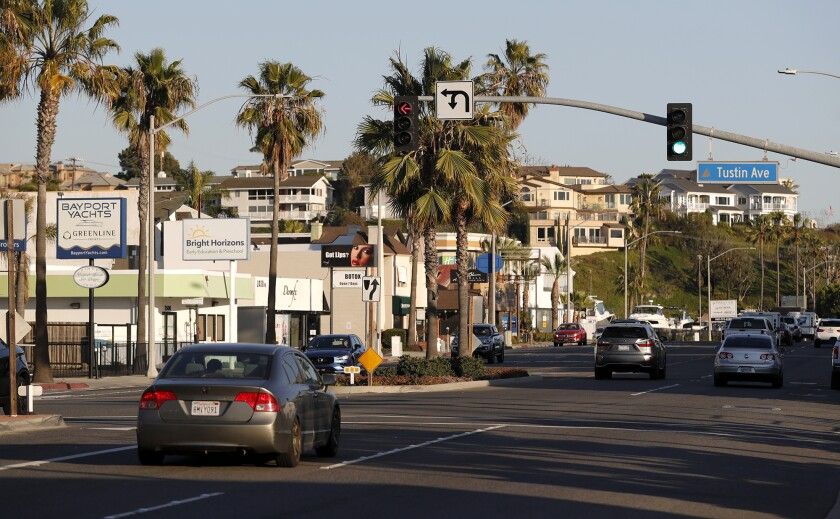 A view of Mariner's Mile looking south along Pacific Coast Highway.