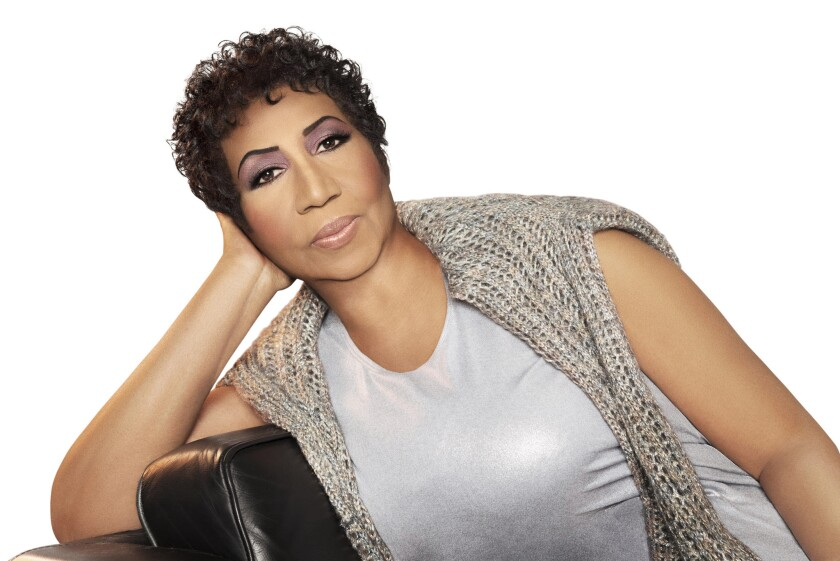 Aretha Franklin, photographed in Detroit, MI.