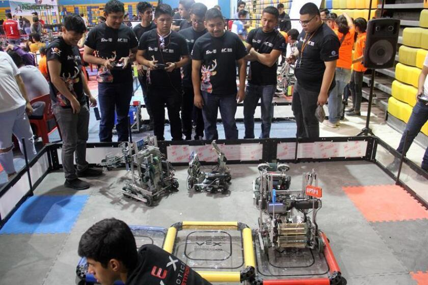 Students compete in the Mexican National Robotics Tournament on March 9, 2019, in Cancun, Mexico. EPA-EFE/Alonso Cupul