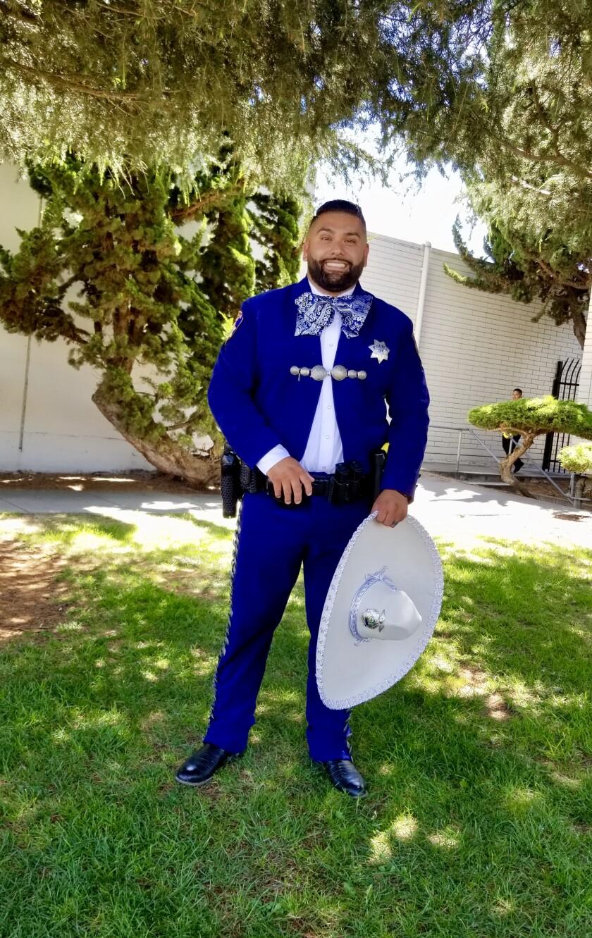 Officer Robert Hernandez in a charro suit