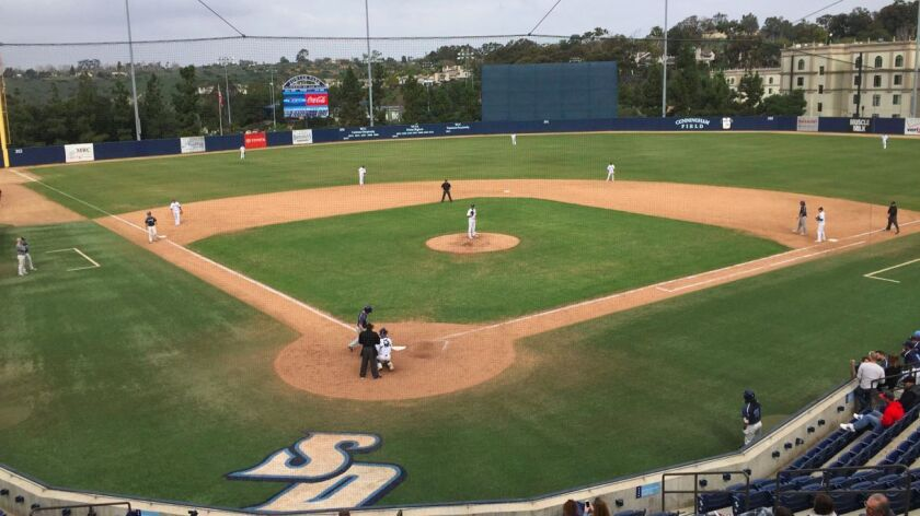 The USD baseball team played the Toreros Alumni on Sunday at Fowler Park.