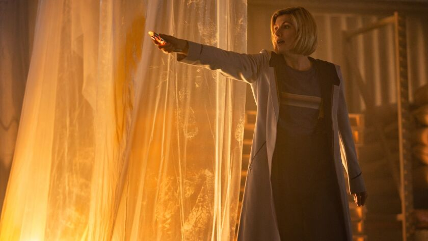 """Jodie Whittaker as the Thirteenth Doctor in """"Resolution,"""" a New Year's Day special from """"Doctor Who."""""""