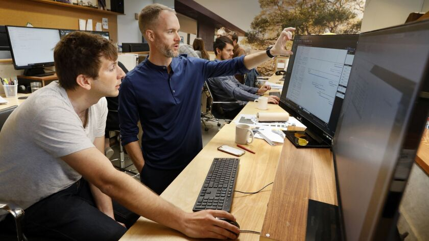 LOS ANGELES, CALIFORNIA--NOV. 26, 2018--Employes of Walker Workshop, an architectural firm, will soo