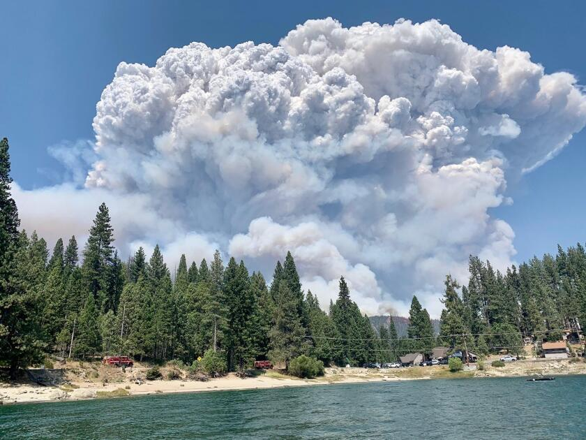 The Creek fire in the Sierra National Forest.