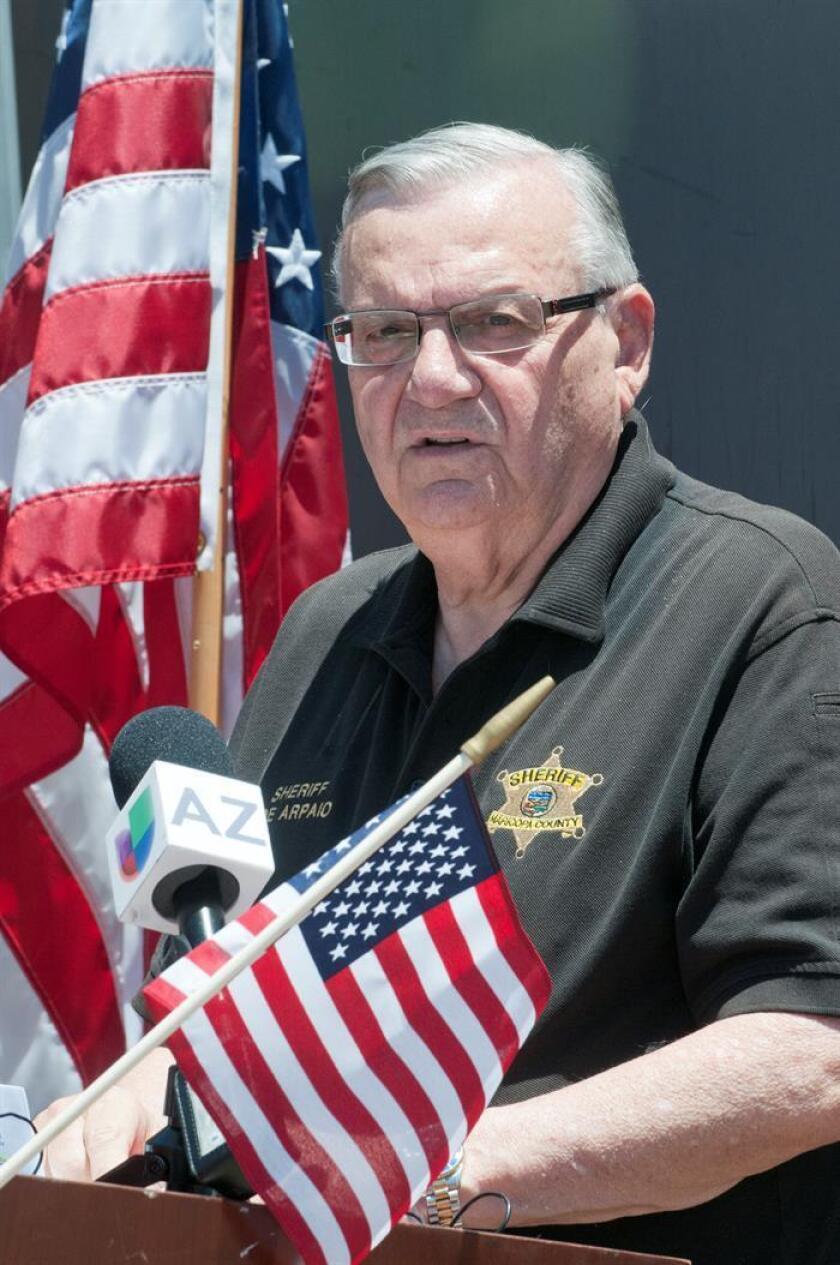 Fotografía de archivo tomada el 4 de julio de 2016, del alguacil del Condado Maricopa, Joe Arpaio. EFE/Archivo