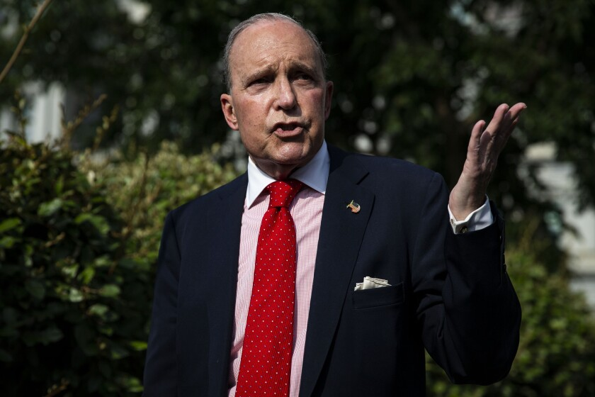 Trump's chief economist, Larry Kudlow, has been a defender of the president's fiscal policies.