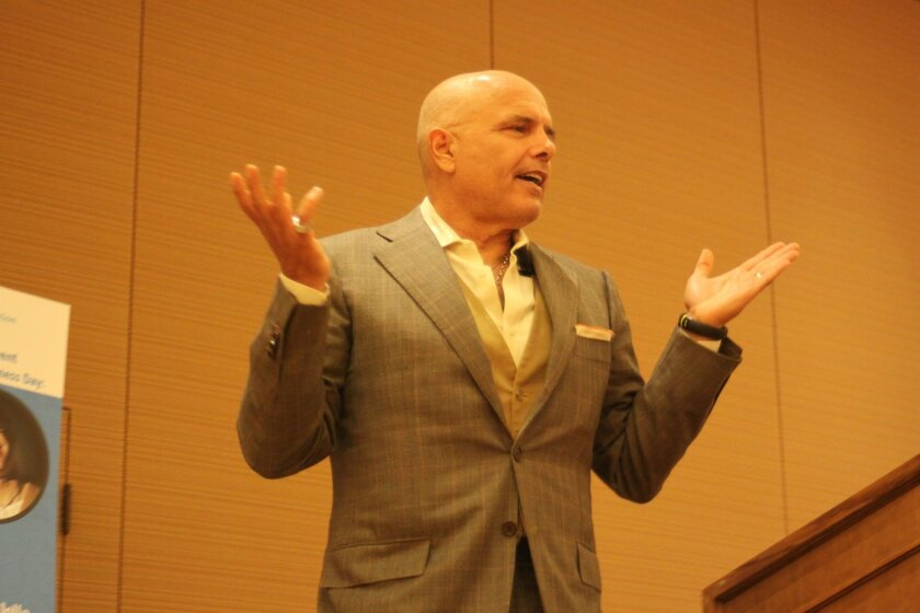 Actor Joe Pantoliano discusses his personal struggles with mental health and addiction at an Oct. 9 international Bipolar Foundation luncheon.
