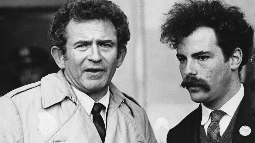 Jerry Rubin (right) with Norman Mailer.