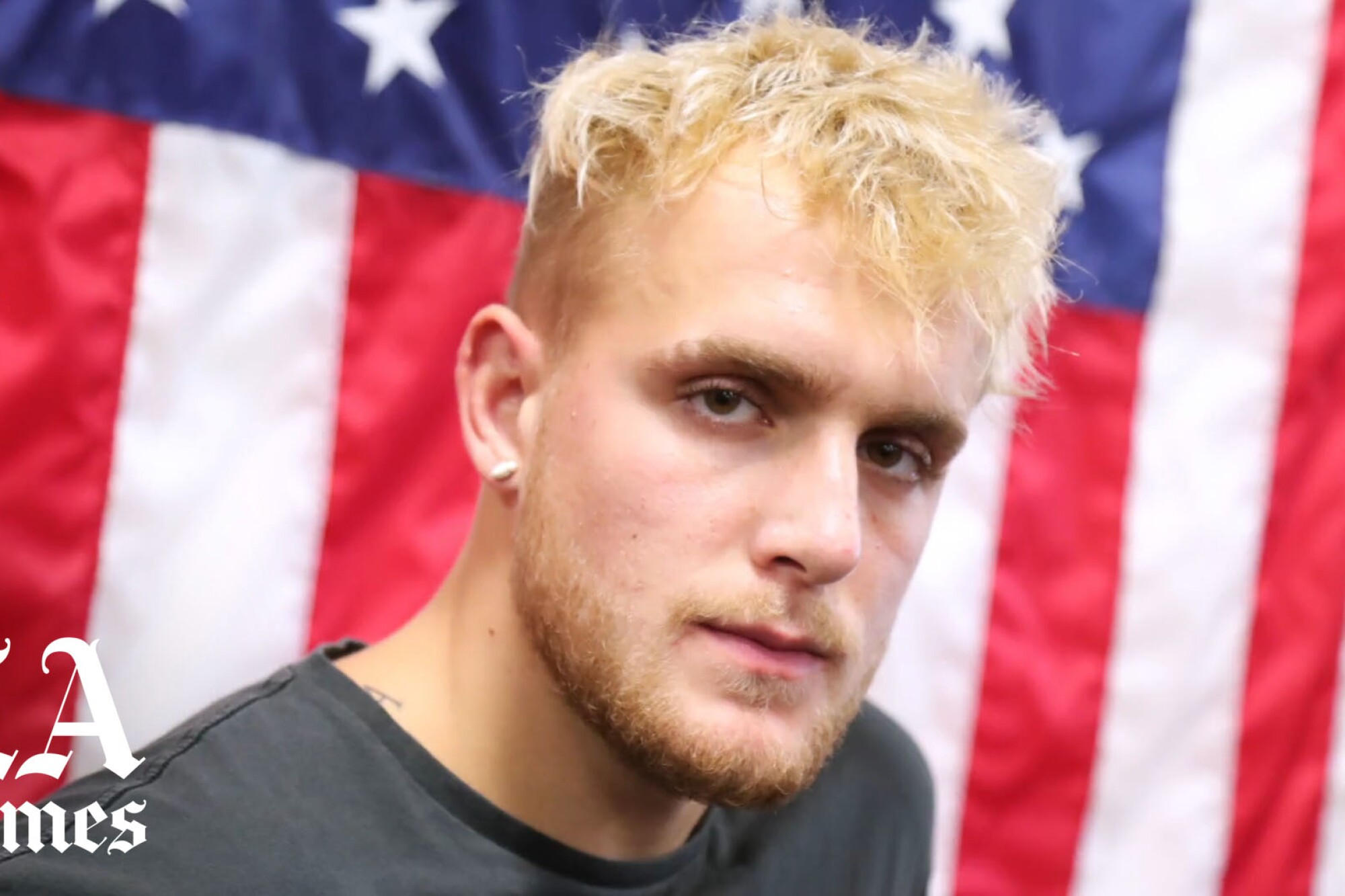 HOLLYWOOD, CALIFORNIA - OCTOBER 22: Jake Paul attends Logan Paul Workout Showcase at Wild Card Boxing Club.