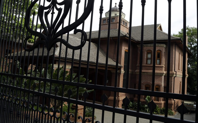 Oscar Pistorius will serve his house arrest the home of his uncle, seen here on Oct. 20, in Pretoria, South Africa.