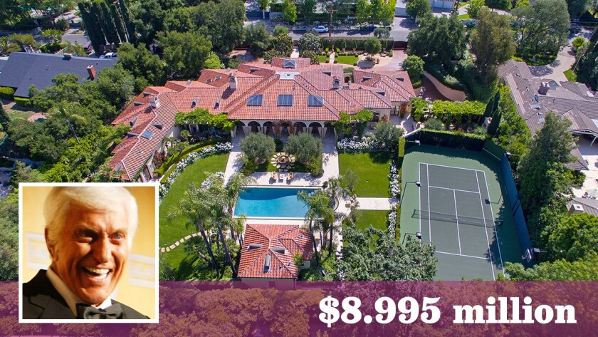 Listed for sale at $8.995 million, the Encino home has a history that includes Dick Van Dyke, pictured, Pelé and Harrison Ford.