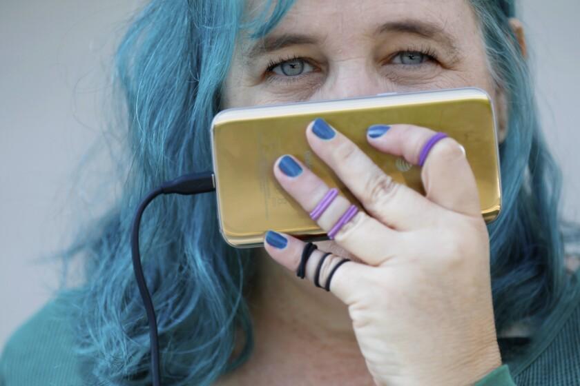 "Los Angeles, Ca November 28, 2018: Portrait of self described ""activist - journalist"" Patti Beers"