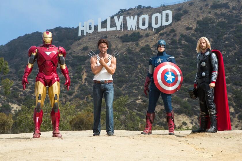MARVEL superheroes en el Madame Tussauds Hollywood