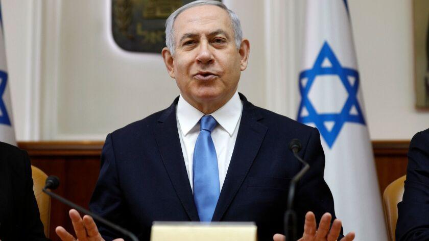Weekly Israeli cabinet meeting in Jerusalem, Israel - 10 Mar 2019