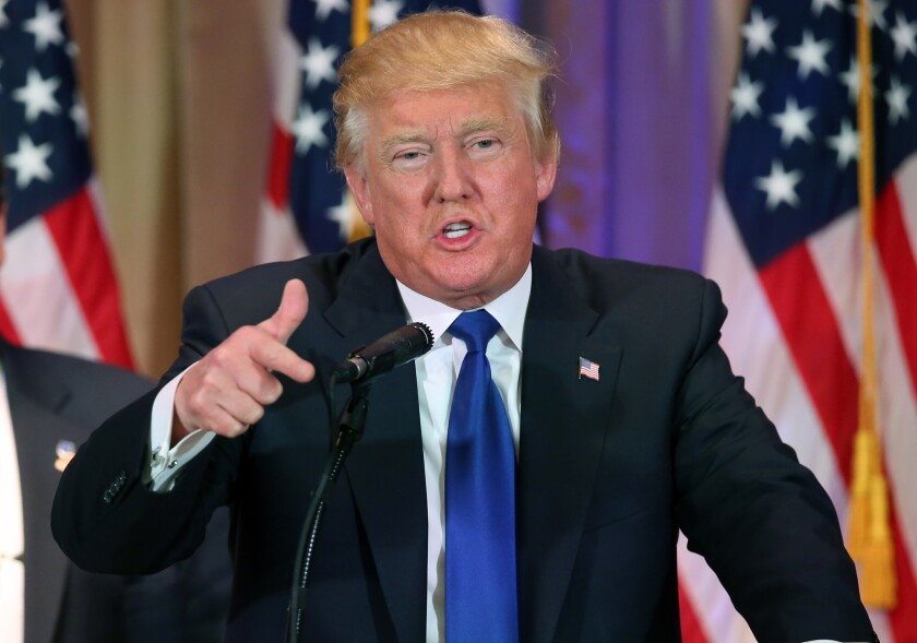 """Republican presidential candidate Donald Trump, shown earlier this week, on Wednesday released a plan titled """"Healthcare Reform to Make America Great Again."""""""