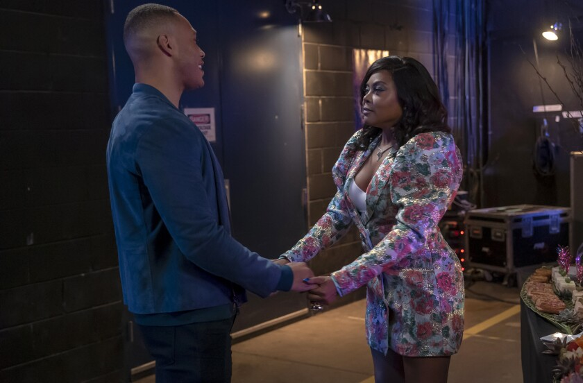 "Trai Byers, left, and Taraji P. Henson in Tuesday's episode of ""Empire."""