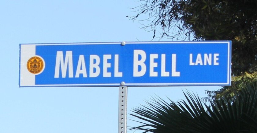 Mabel Bell Lane was named after a pioneer of La Jolla's early black community.
