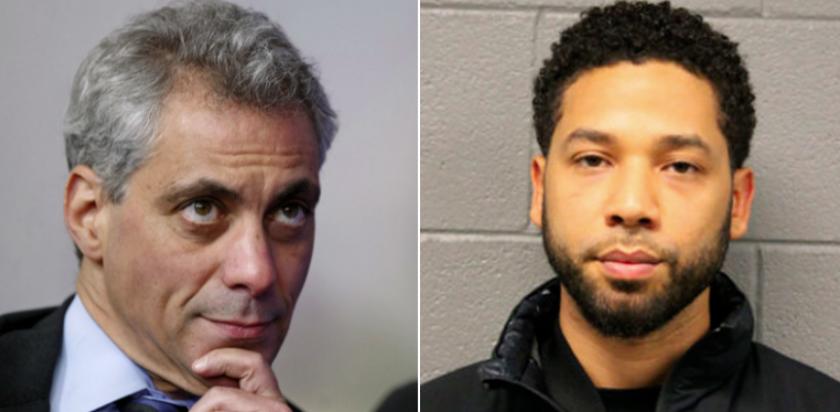 El alcalde de Chicago, Rahm Emanuel (izquierda) compara el retiro de los cargos al actor, Jussie Smollet, con el reciente escándalo de sobornos en la admisión a las universidades de élite.