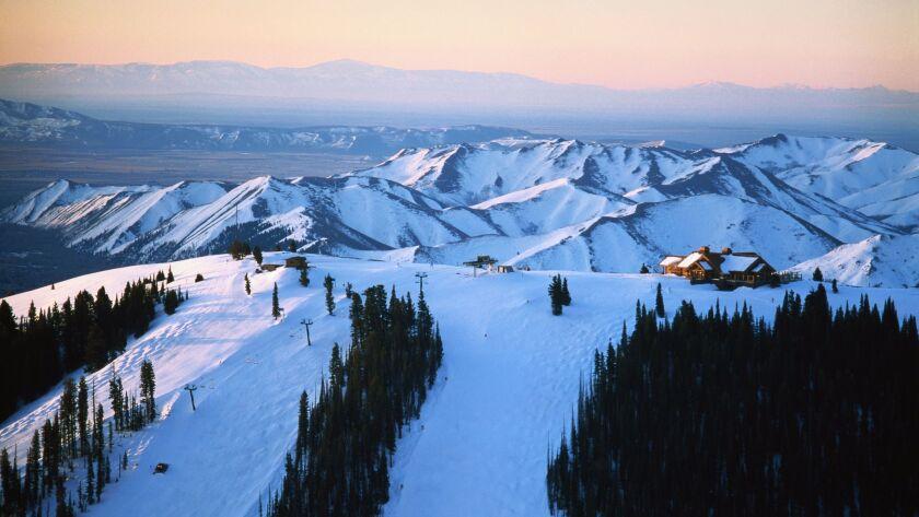 Idaho,Sun Valley Lodge at sunrise