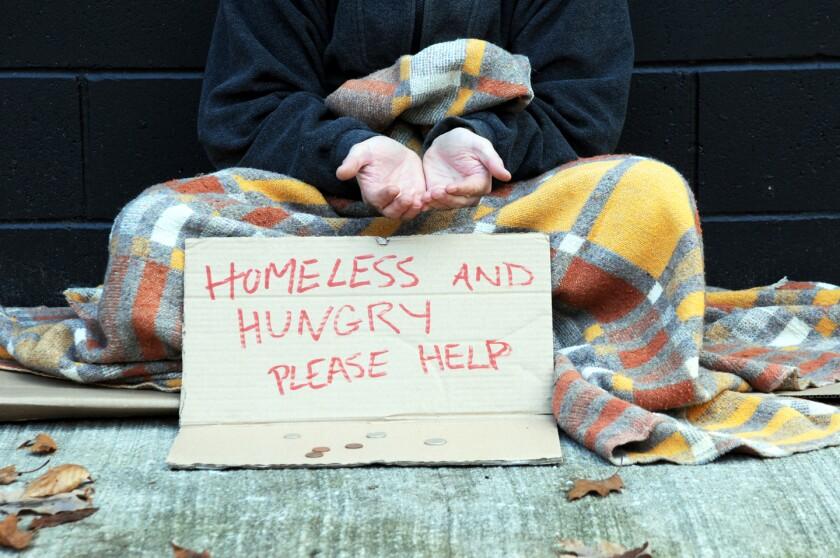 Open hands begging