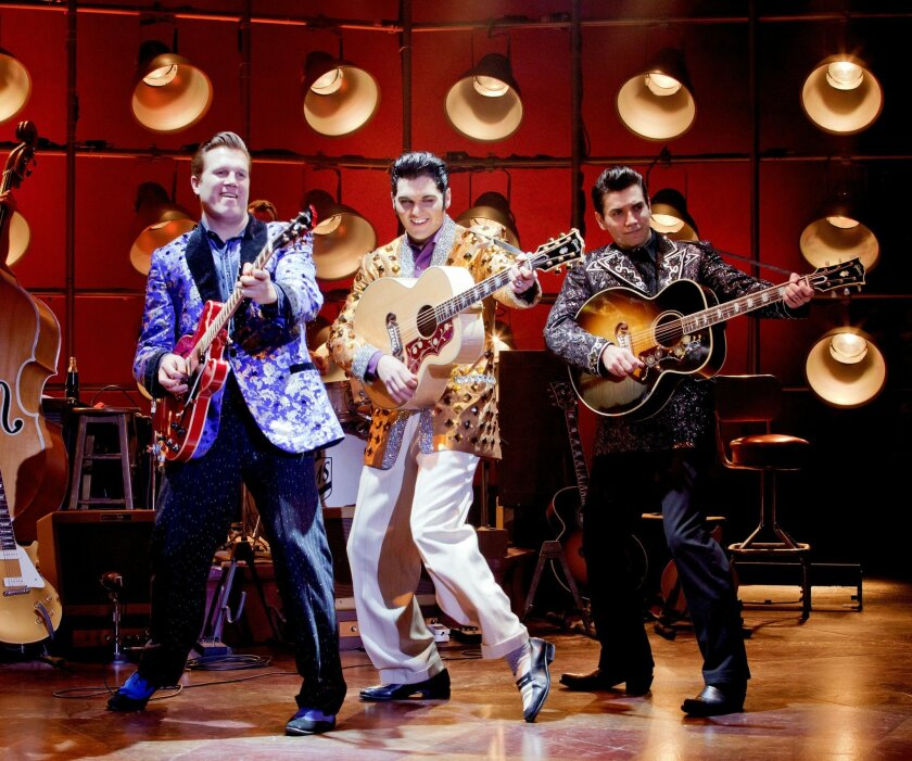 "A scene from the touring production of ""Million Dollar Quartet."""